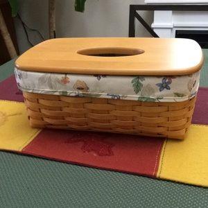 Longaberger long tissue basket combo botanical gar